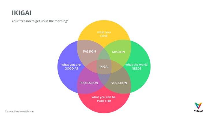 Ikigai Venn Diagram Example