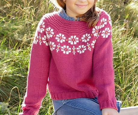 Детский джемпер Daisy Delight DROPS Design