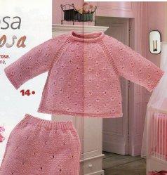 Вязание для малышей кофточки Rosa - Вяжи.ру