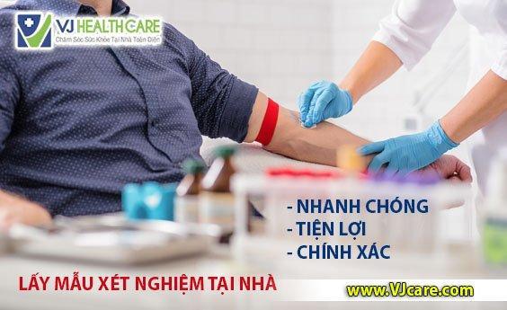 giá dịch vụ lấy mẫu xét nghiệm tại nhà VJcare lấy máu xét nghiệm tại nhà