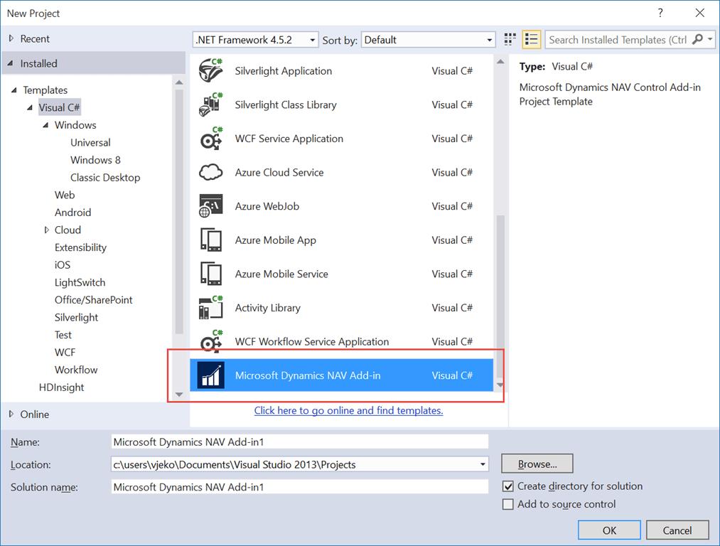 Visual Studio Control Add-in Project Template - Vjeko com