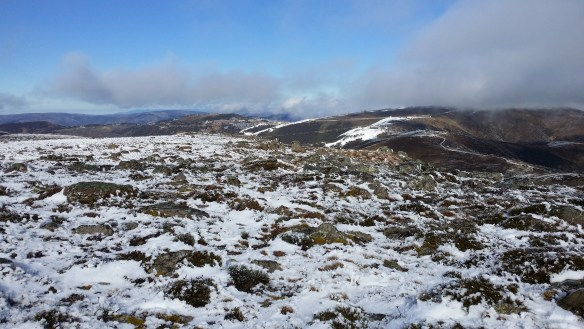 Looking back to Hotham resort from Mt Loch