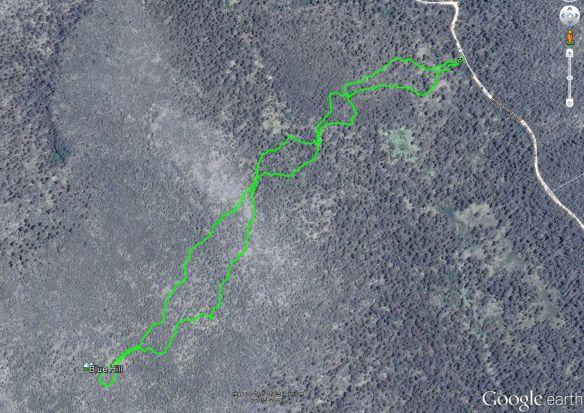Blue Hill Google earth track