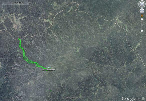 Mt Wombargo Google Earth track