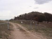 Gate at base of summit