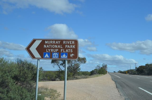 The sign on the Sturt Hwy