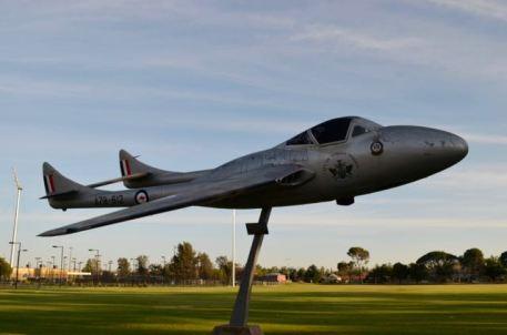 de Havilland Vampire at Wagga Wagga