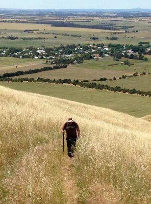 Heading up the summit