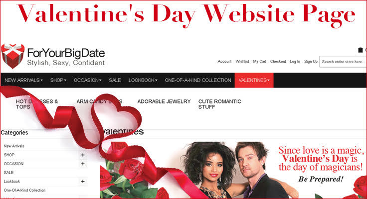 valentines day marketing webpage image