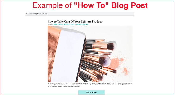image for great example of how to blog post for retail company