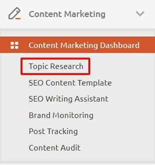 topic research navigation
