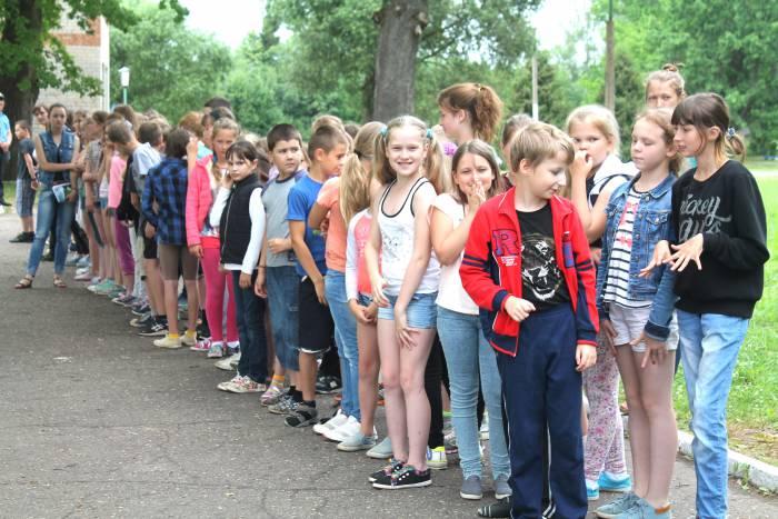 лагерь, дети, отдых, лето