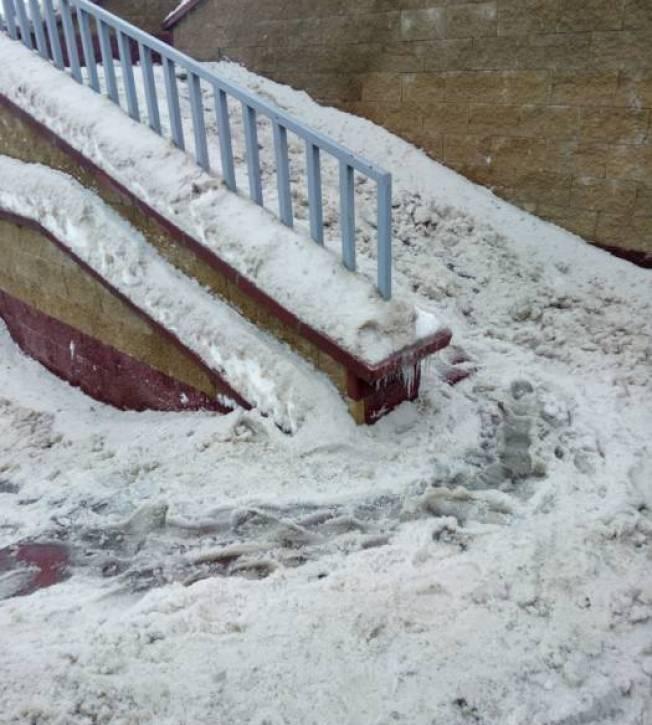витебск, снег, лестницы, скользко
