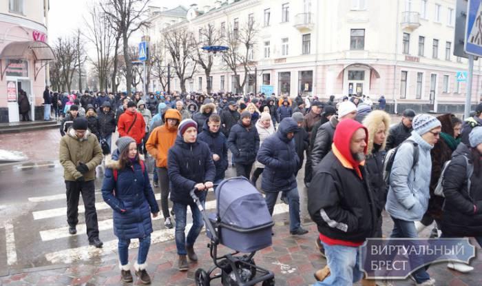 Нетунеядцы в Бресте. Фото: virtualbrest.by