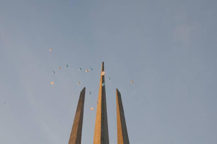 Небо над площадью. Фото Анастасии Вереск
