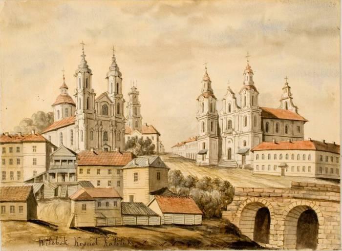 Рынковая площадь Витебска на рисунке Орды 1875-1876 гг. Фото evitebsk.com
