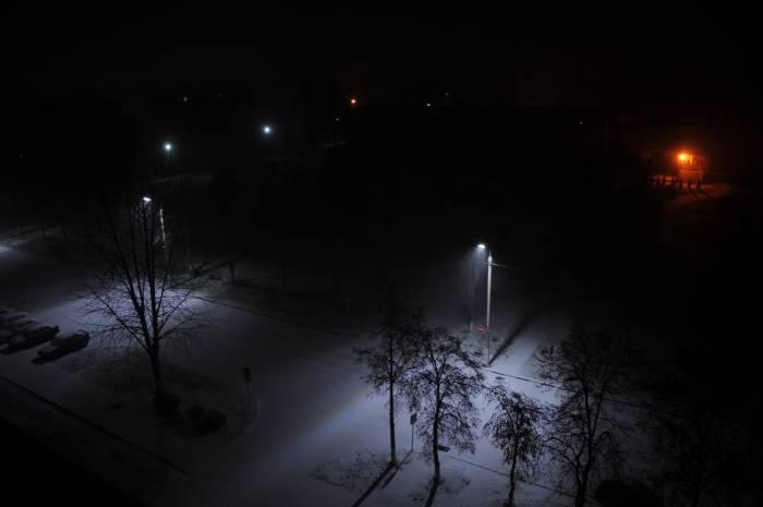Первый снег в Новолукомле. Фото Анастасии Вереск