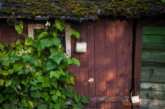 Необычный держатель для замка. Фото Анастасии Вереск