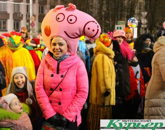 свинка пепа, парад, новый год