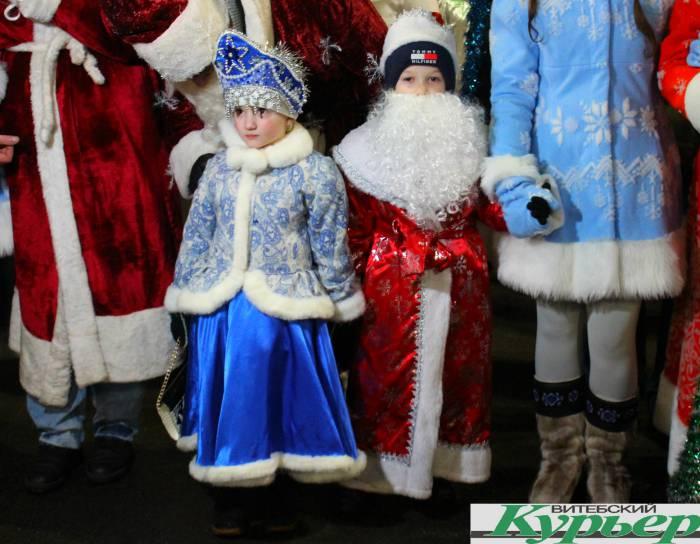 парад, дед мороз, снегурочка, дети, новый год
