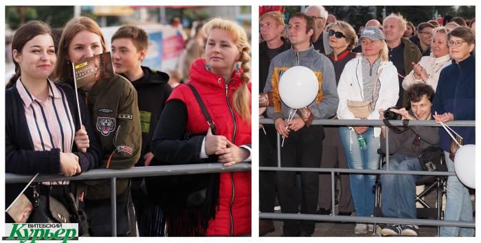 Сотни витебчан в субботу вечером собрались послушать классику под открытым небом