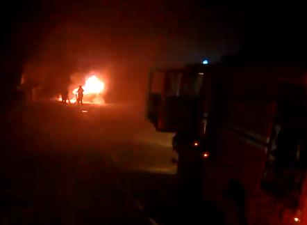 в деревне Пышно Лепельского района сгорел легковой автомобиль Volkswagen