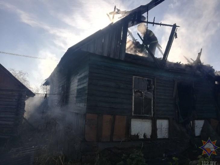 В Бешенковичском районе пенсионерка из горящего дома спасла своего соседа