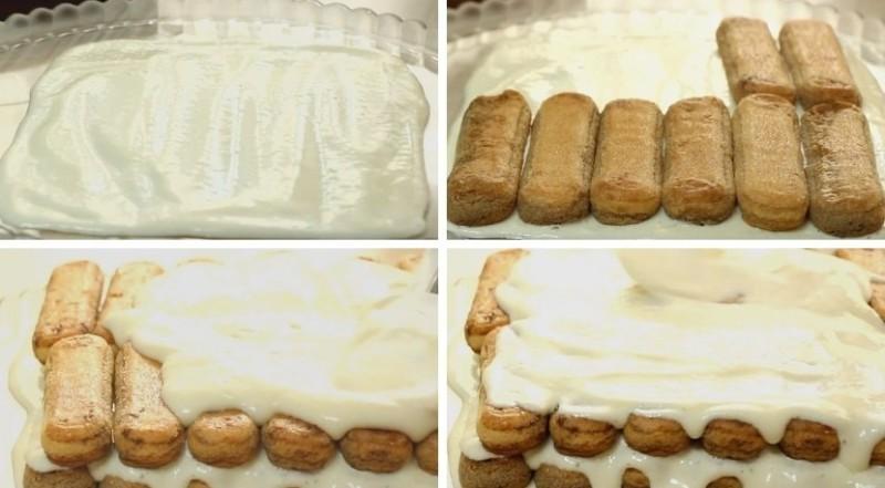 Nós formamos um bolo tiramisu