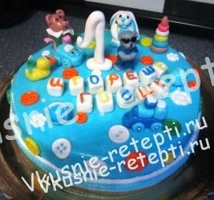 Украшение торты детские фото