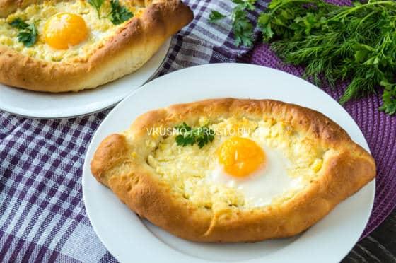 Хачапури с яйцом и сыром (пошаговый рецепт) » Вкусно и ...