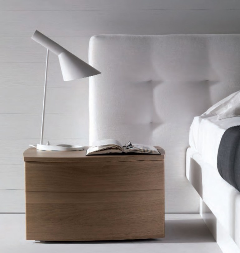 AJ Desk Lamp in white as a nightlamp in the bedroom