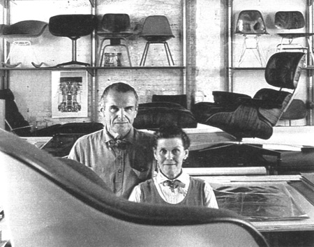 Ray and Charles Eames in their workshop