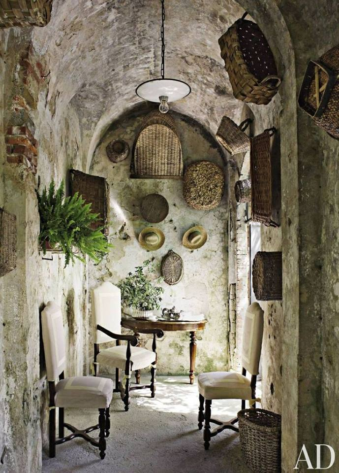 Dede's Pratesi's Tuscan home via Architectural Digest