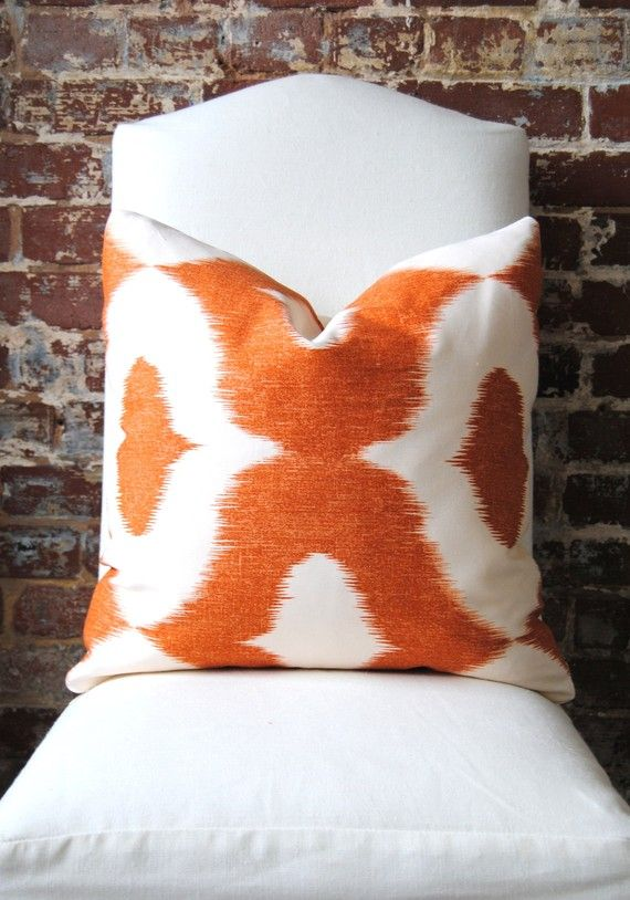Ikat & Orange, so very NOW, available via Martha & Ash on Etsy