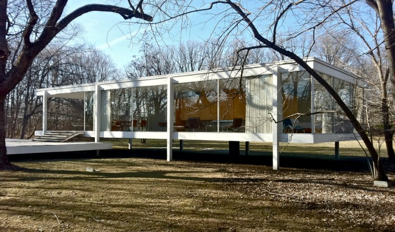The Farnsworth House, created by Mies for his supposed lover Edith Farnsworth, completed in 1951