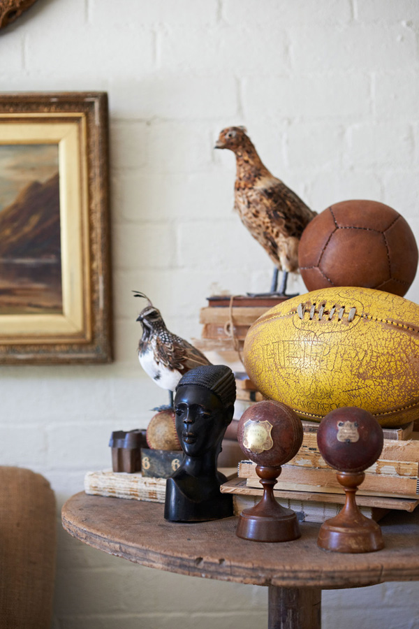 Detail of a little collection in a converted Australian former mattrass factory - via Stylejuicer and Dutch VT Wonen