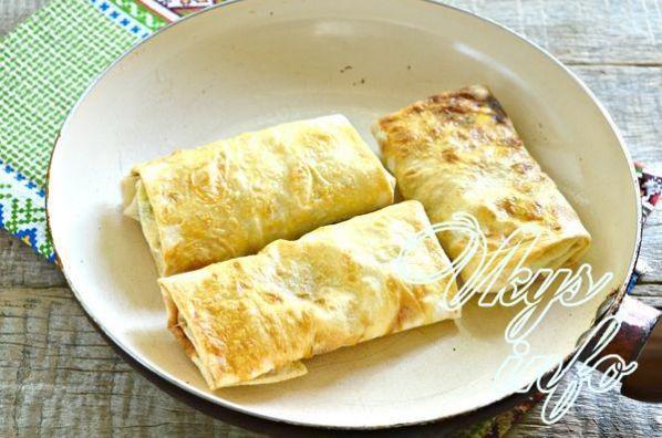 Пирожки в лаваше на сковороде рецепт с фото