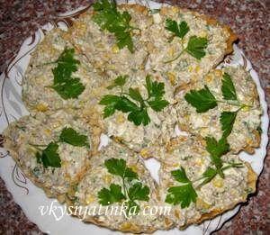 Тарталетки с сардиной - рецепт с фото