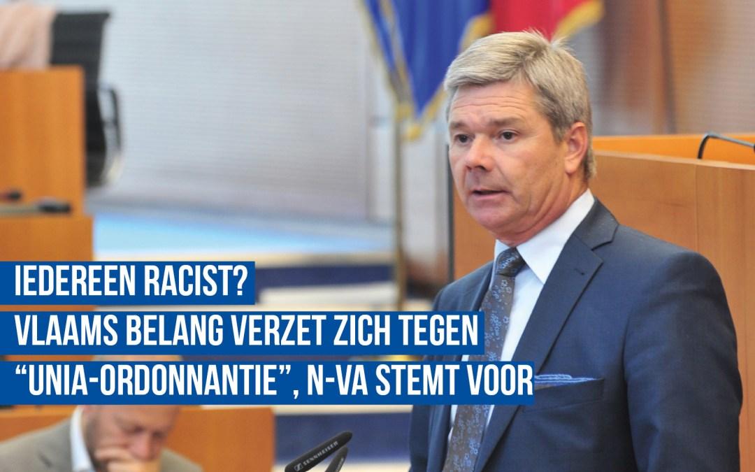 """Vlaams Belang verzet zich tegen """"Unia-ordonnantie"""", N-VA stemt voor!"""