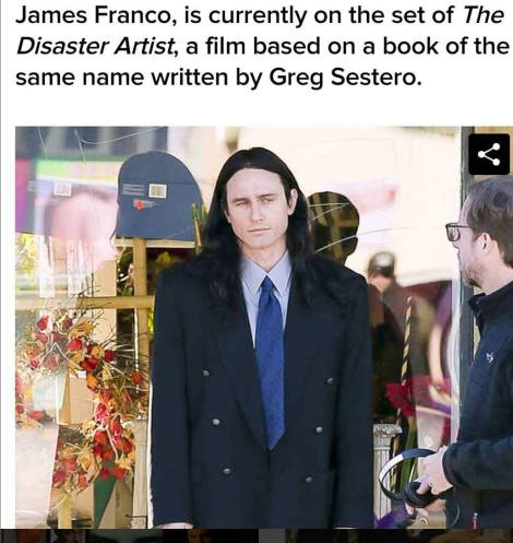 James Franco in The Disaster Artist. Sursa foto: Facebook