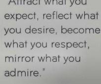mirror admire
