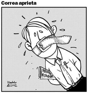 Rafael Correa siguió obsesionado con silenciar a sus críticos.