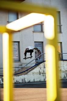 Mikey Patrick, alley-oop backside 180, Pula.