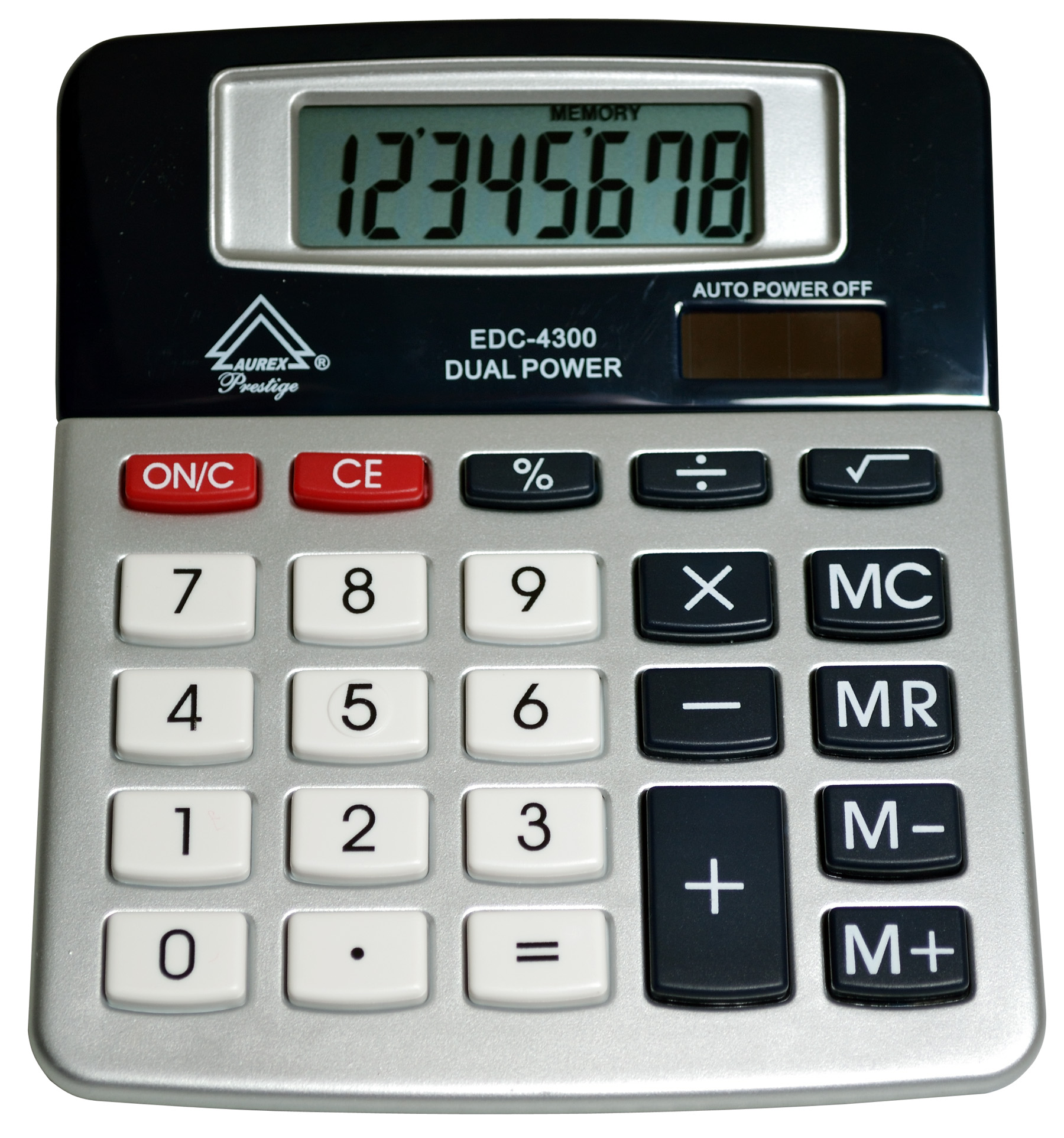 Dual Power Tilt Display Desktop Calculator