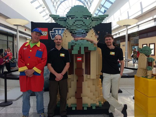 Oakridge LEGO Store One Year Annivesary Yoda Build