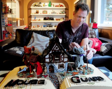 Lego artist Paul Hetherington works on his piece Mouse Guard at his North Vancouver home. Photograph by: Mike Wakefield , North Shore News