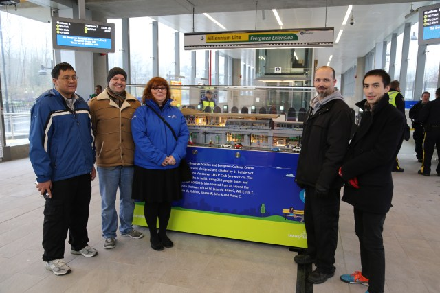 Some of the builders who were able to attend the Opening Day Festivities. From left to right Tim T, Jason V, Jennifer F (Translink), Lee W and Will F.