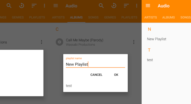 Playlist Feature in VLC for Android