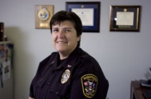 Dumfries has a new police chief, and she plans to stay awhile. Chief Rebecca Edwards, the department's second-in-command for the past 18 months, took her new position last week when Chief Rob Forker retired.