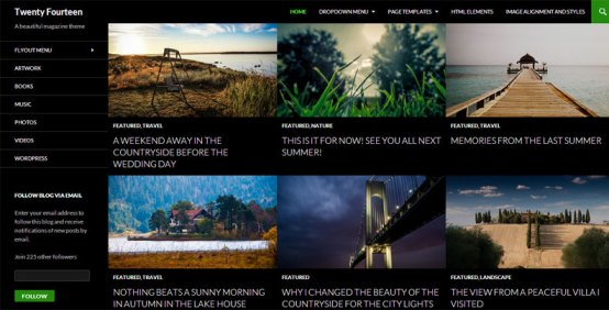 Twenty Fourteen A beautiful magazine theme What new features does WordPress 3.8 give us?